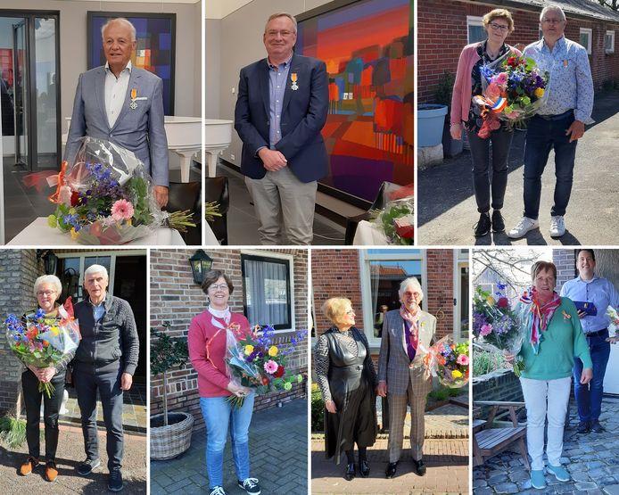 Zeven inwoners uit de gemeente Dinkelland zijn vandaag verrast met een koninklijke onderscheiding