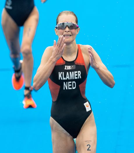 Klamer snelt op triatlon naar fraaie vierde plek, Kingma net buiten top-tien