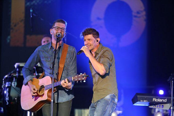 Kris en Koen Wauters van Clouseau tijdens een eerder concert op de Lokerse Feesten.