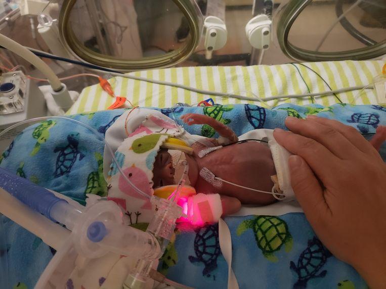 Richard Scott William Hutchinson in het ziekenhuis. Beeld Gofundme