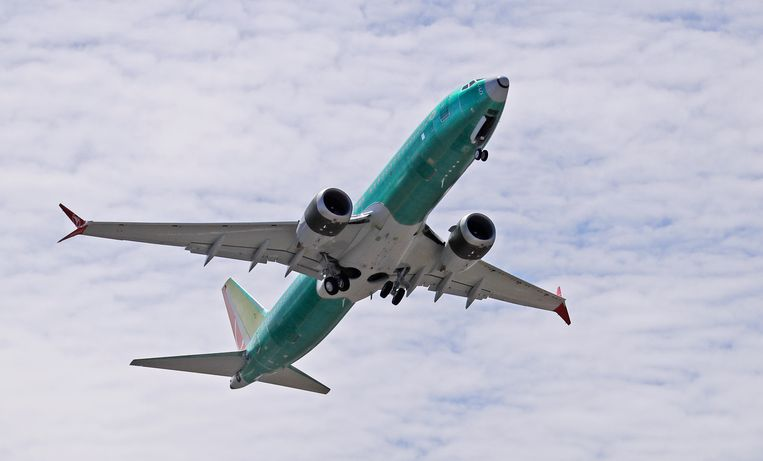 Een Boeing 737 MAX, een type toestel waarmee al twee crashes gebeurden. Beeld AP
