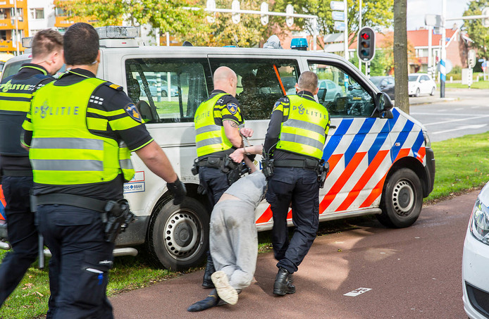 Man in Roosendaal aangehouden na wegtrekken van ladder onder snoeier.