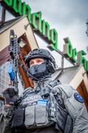Politietraining bij De Hoeve in Groesbeek.