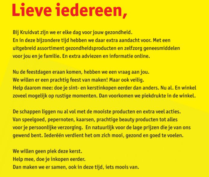 De advertentie.