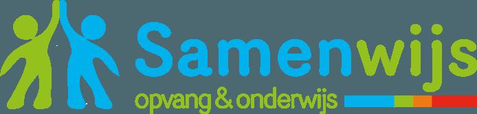 Het nieuwe logo van Samenwijs Opvang & Onderwijs.