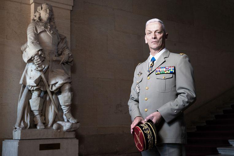 De Franse generaal François Lecointre, hoogste militair van de strijdkrachten. Beeld Hollandse Hoogte / AFP
