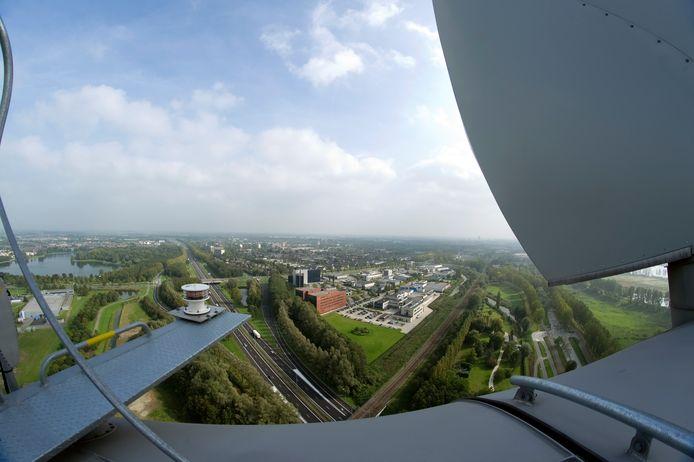 Uitzicht vanaf de enige windturbine aan Treurenburg  in Den Bosch.