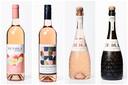 Van l naar r: Nuvola by Avignesi Bio, Côtes de Provence, Hola! Mediterraneo Brut Rosé en Hola! Mediterraneo Brut
