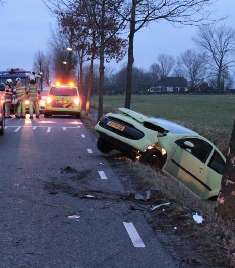 Auto knalt tegen boom in Haarzuilens