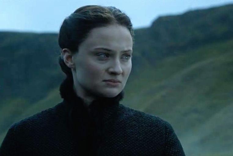 Gothic Sansa is niet blij om terug te gaan naar Winterfell. Beeld HBO