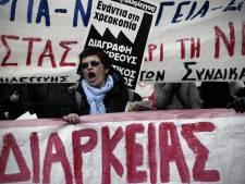Les syndicats manifestent à Athènes