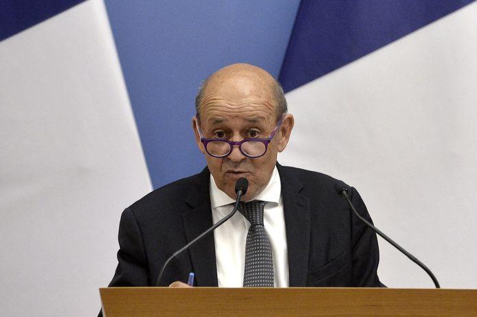 Franse minister van Buitenlandse Zaken Jean-Yves Le Drian.