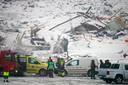 Bij de aardverschuiving op 30 december werden negen gebouwen meegesleurd.