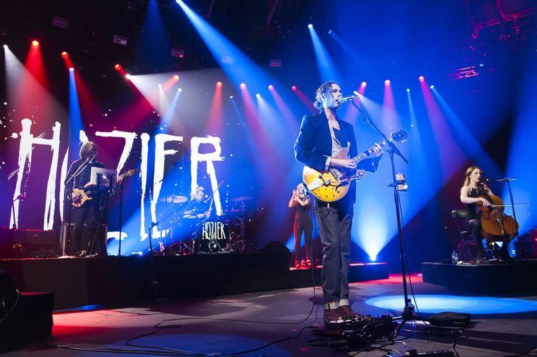 Hozier op het iTunes Festival in Londen. Beeld Photo News