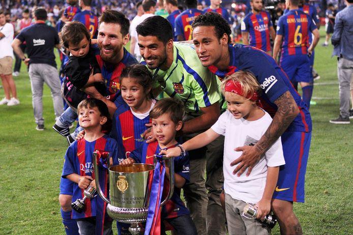 Het gouden trio Lionel Messi, Luis Suárez en Neymar.