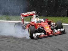 Ferrari blaast testsessie af na crash Vettel