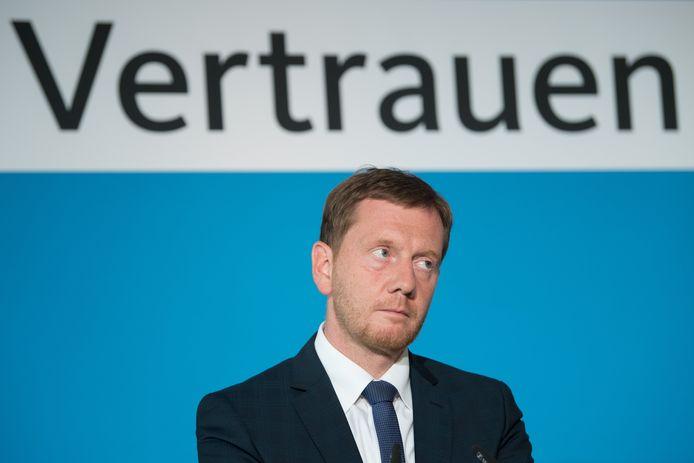 Michael Kretschmer, de huidige minister-president in Saksen, zal wellicht zijn mandaat kunnen voortzetten.