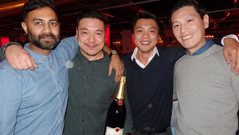 Nummer 1 van de Top 100 Food Influencers, de oprichters van de Foodhallen: Rakish Gangapersad, Chong Chu, Zing-Kyn Cheung en Tsibo Lin (vlnr) Beeld Schuim