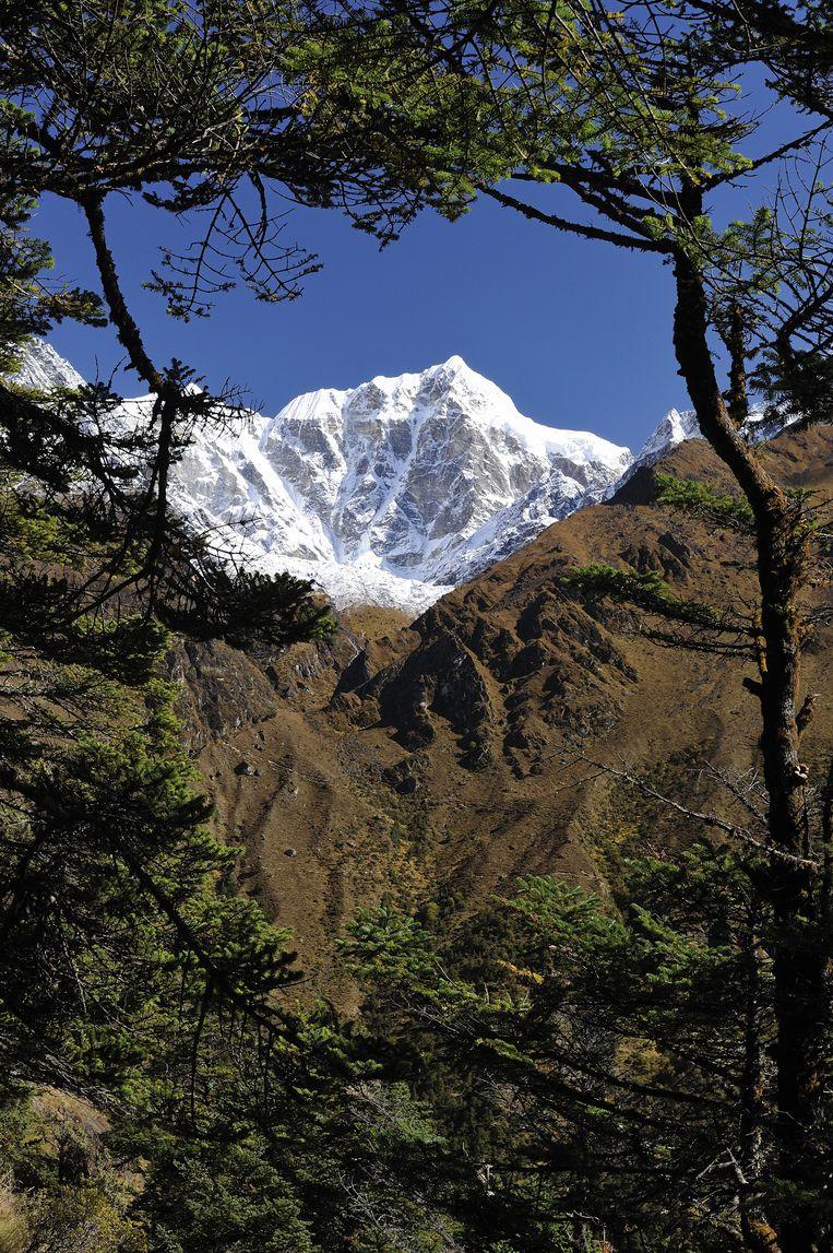 Zicht op Mount Everest.  Beeld Gamma-Rapho via Getty Images