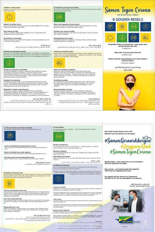 De sensibiliseringsbrochure werd opgesteld in vijf talen.