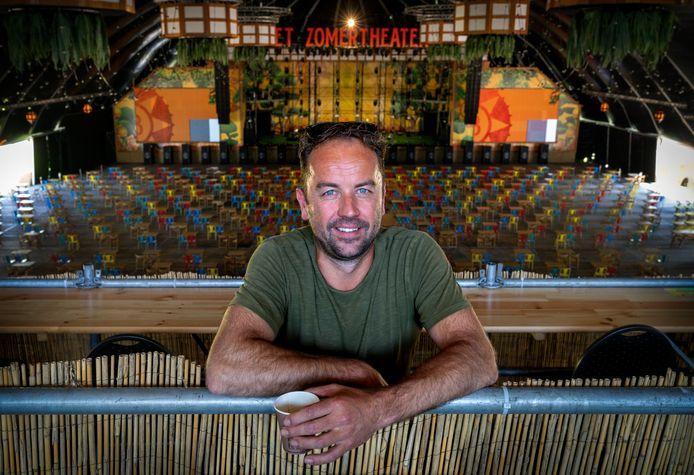Bart van Schaaijk bouwde met Coreworks mee aan het podium van Zomertheater in Den Bosch.