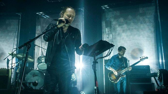 Radiohead lors du festival Glastonbury en mai 2016.