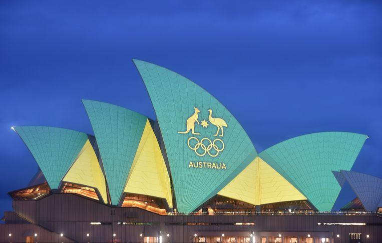 In 2016 was er al eens lichtreclame te zien op het Opera House, toen voor het Australische Olympische team.