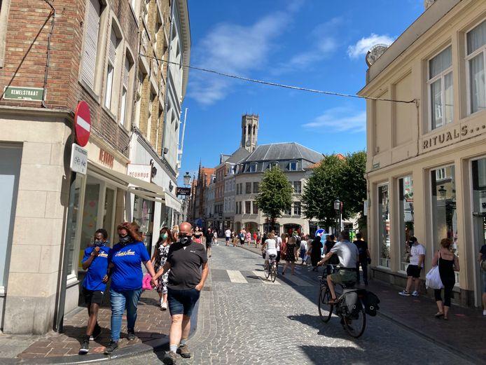 Echt druk werd het niet op zaterdagnamiddag in Brugge.
