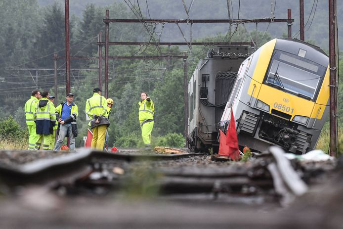 Un train ne transportant aucun voyageur a déraillé jeudi à l'aube à l'entrée de la gare de Rochefort-Jemelle, sur la ligne 162 entre Namur et Sterpenich.