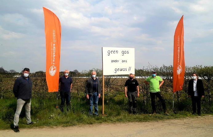 De Herentalse boeren protesteren tegen de komst van de ondergrondse pijpleidingen