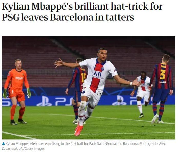 The Guardian was vol lof voor Mbappé.