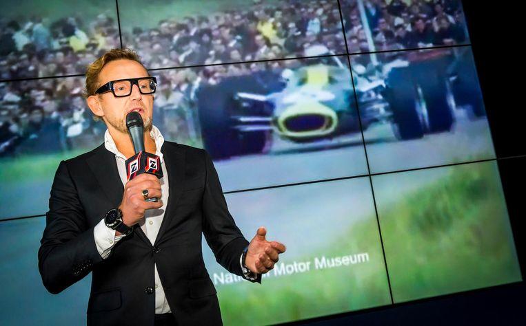Prins Bernhard van Oranje bij de presentatie van het haalbaarheidsonderzek naar Formule 1 in Zandvoort, in november vorig jaar. Beeld anp