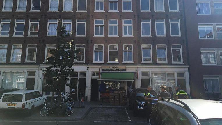De woning waar de schietpartij plaatsvond Beeld Het Parool