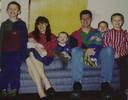 Andrea Yates en haar vijf kinderen.