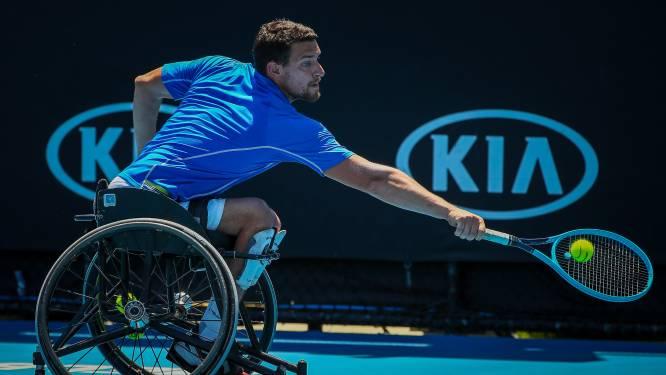 Rolstoeltennisser Joachim Gérard triomfeert in finale dubbelspel op Wimbledon