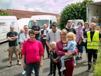 """Met tien ton hulpgoederen naar Wallonië: """"Zoveel bereidwilligheid in onze gemeenten om te helpen"""""""