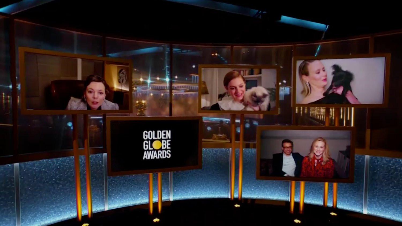 Chat et chien étaient invités aux Golden Globes.