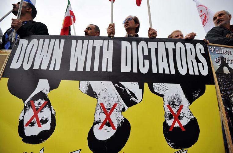 April 2011: Een demonstratie in Washington, gericht tegen het regime in Iran.  Beeld AFP
