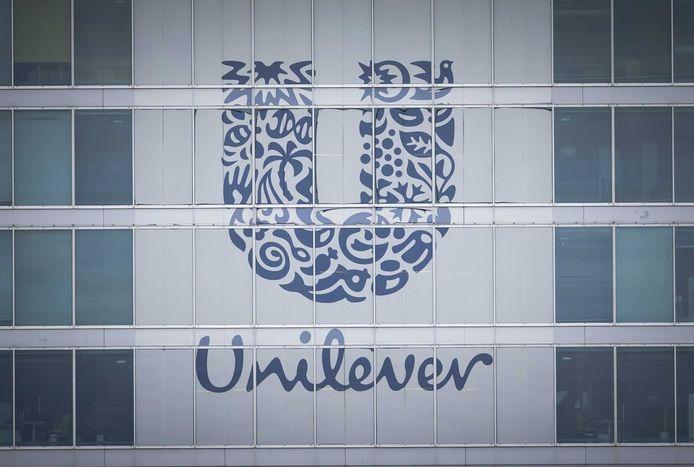 Exterieur van het hoofdkantoor van Unilever in Rotterdam.