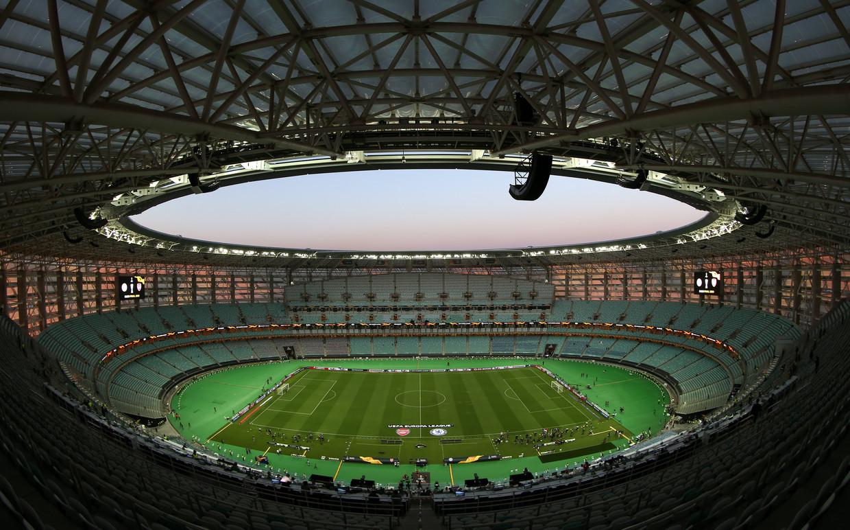 Bakoe, de hoofdstad van Azerbeidzjan, ligt dichter bij Bagdad en Teheran dan bij om het even welke andere speelstad van Euro 2021. Ook de schending van de mensenrechten aldaar is niet aan de orde. Beeld Photo News