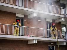 Televisie vliegt in brand in flatwoning in Eindhoven