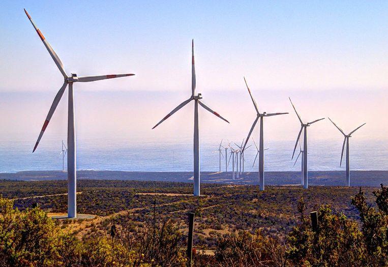 Dit windmolenpark in Canela, een stad in het zuiden van Chili, is nog maar het begin van de groene revolutie. Beeld Wikipedia