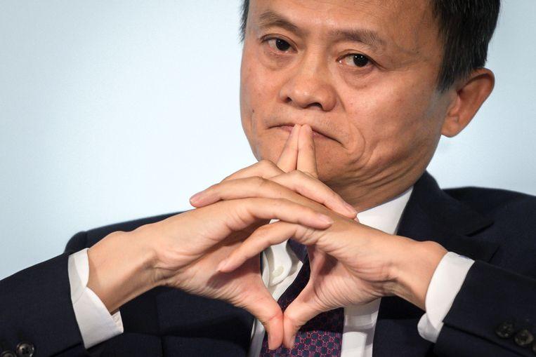 De Chinese staat lijkt klaar met de 'wanordelijke en barbaarse' groei van bedrijven zoals die van Jack Ma, de mede-oprichter van de Alibaba Group. Beeld AFP