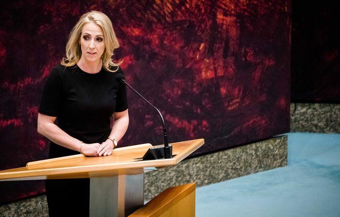 Lilian Marijnissen (SP) tijdens een Tweede Kamerdebat.