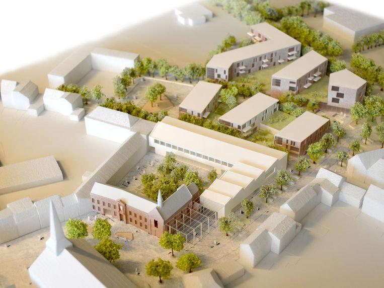 Net achter het klooster, krijgt de Academie een nieuw en open gebouw.