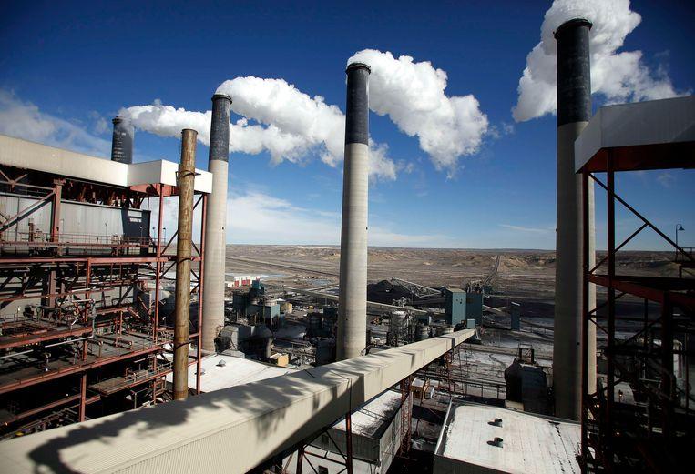 Een steenkoolcentrale in Wyoming.  Beeld REUTERS