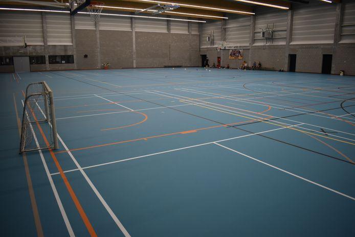 De nieuwe sportzaal.