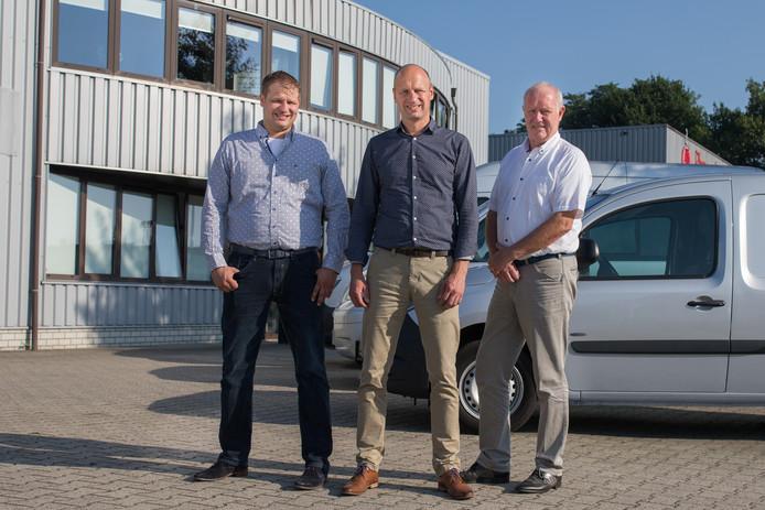 De leiding van Verbeek Fluid Solutions met Ramon, Gerhard en Christiaan Verbeek (vanaf links).