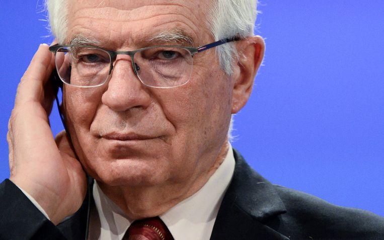 De hoge vertegenwoordiger van het buitenlands beleid van de EU, Josep Borrell. Beeld EPA