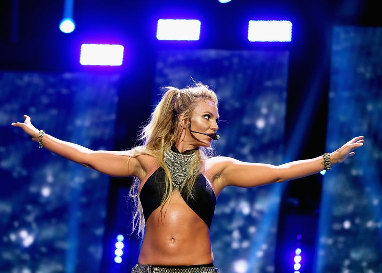 Britney Spears tijdens een show in Las Vegas vorige week.  Beeld Getty Images for iHeartMedia